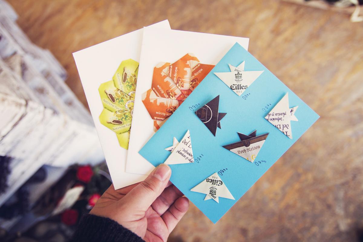 Postkarte-Maritim-Motiv-Segelschiff-Teebeutel-Steinreich