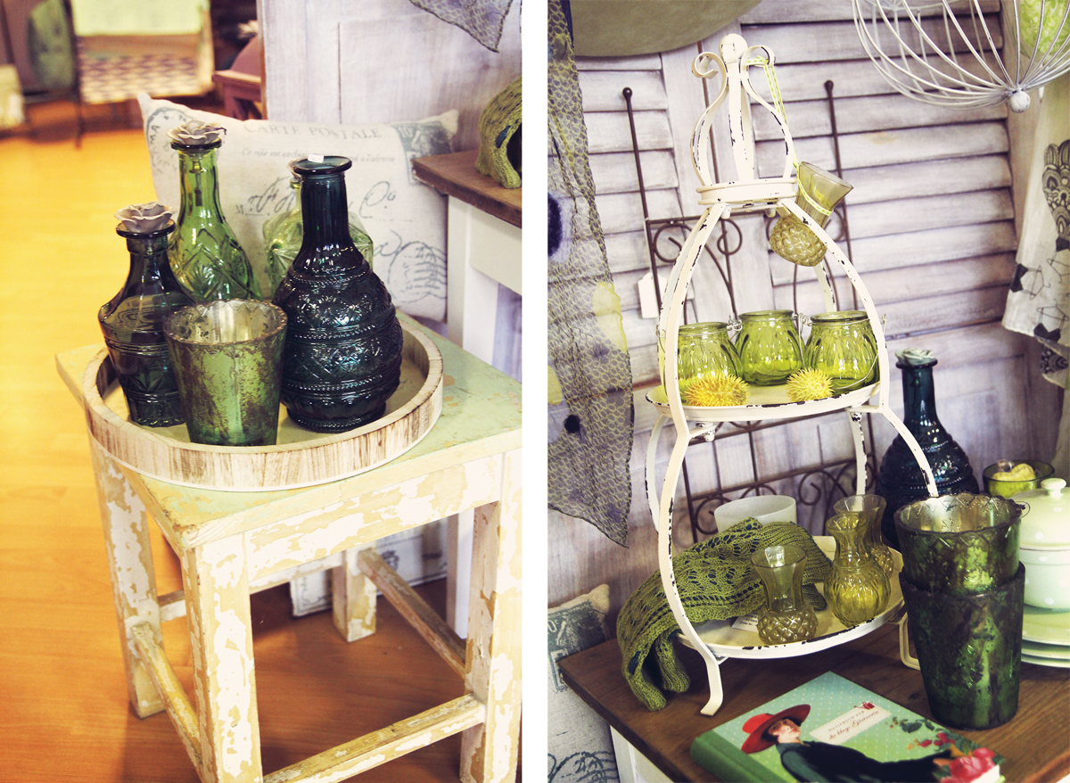flaschen-tassen-grün-frauenzimmer-daenischenhagen