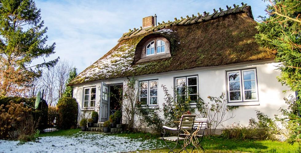 Ferienhaus-Schlei-Reetdachhaus-Urlaub-Romantisch-Garte