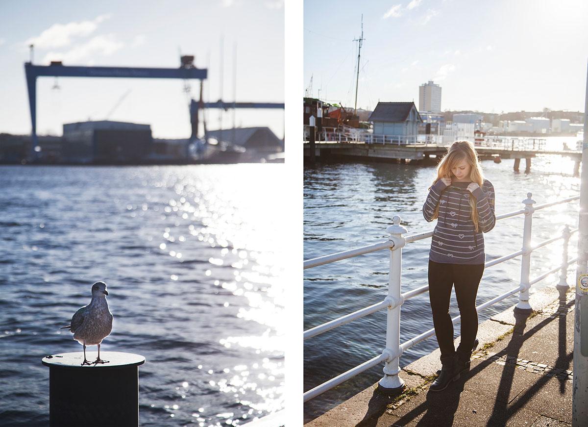 Ein Wintertag in Kiel: Spazieren an der Förde und im Schrevenpark, Kaffee trinken und heiße Schokolade selber machen