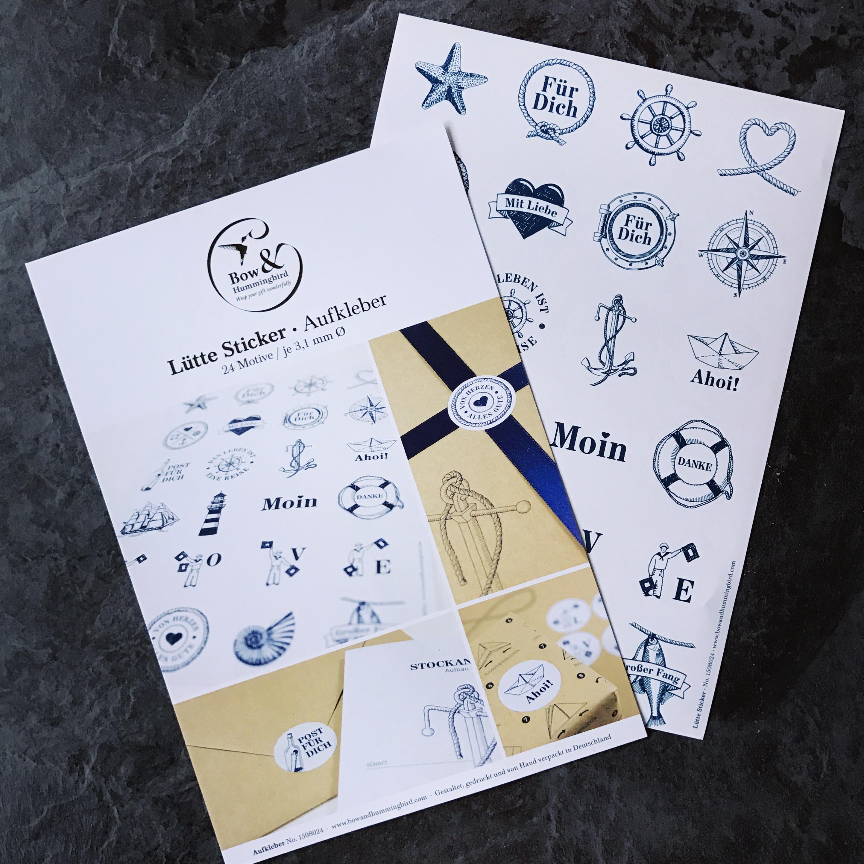 LuetteSticker-bowandhummingbird-maritim-geschenk