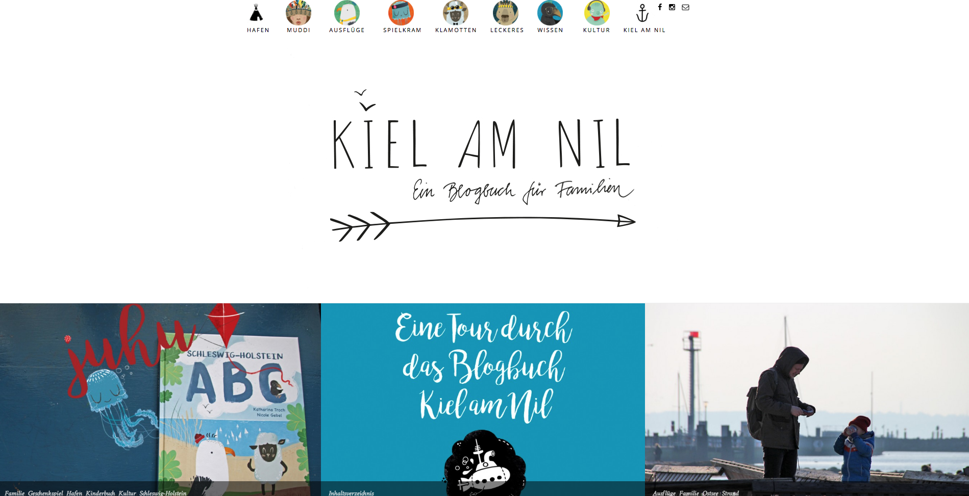 Blogbuch für Familie: Kiel am Nil