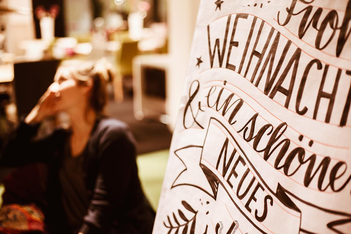 Handlettering-Workshop Moebel Janz Kiel bei Alina Treptow
