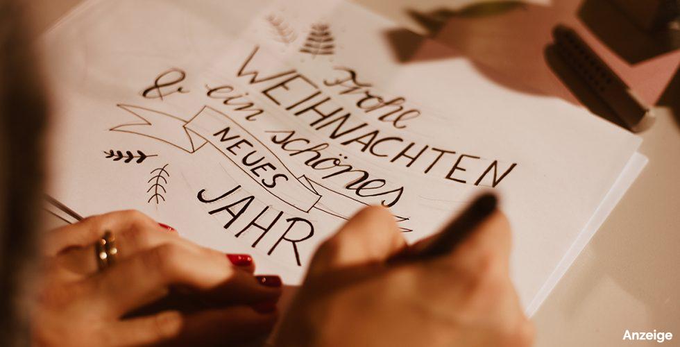 Handlettering Workshop bei Moebel Janz mit Alina Treptow