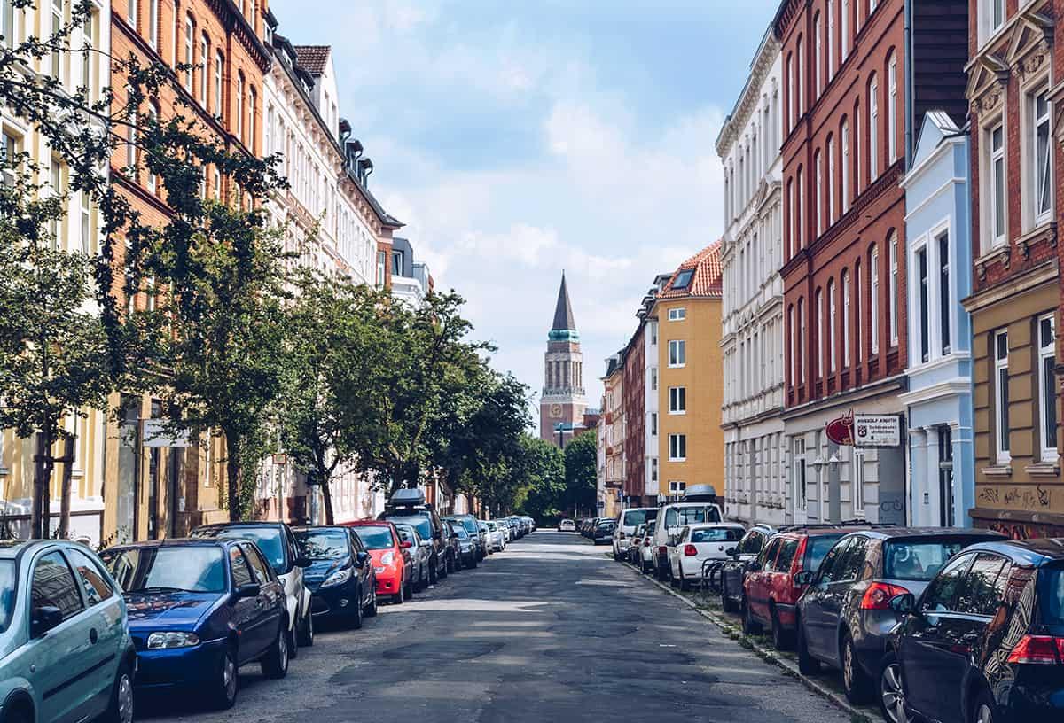 Jungfernstieg und Rathausturm