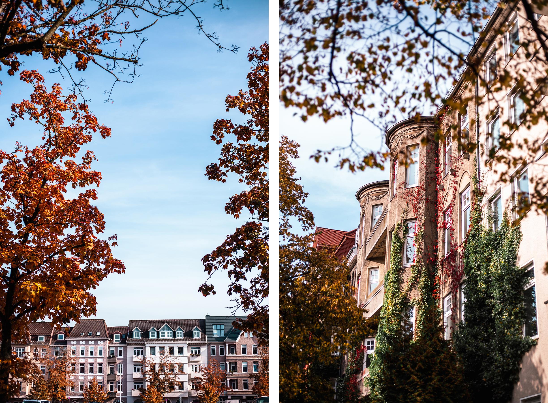 Blücherplatz Kiel Hausfassade Herbst