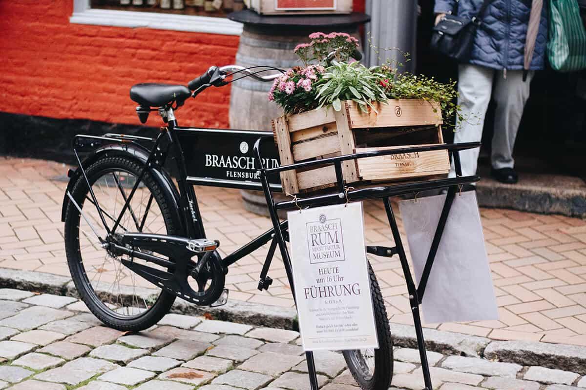 Fahrrad Dekoration Rote Straße Flensburg