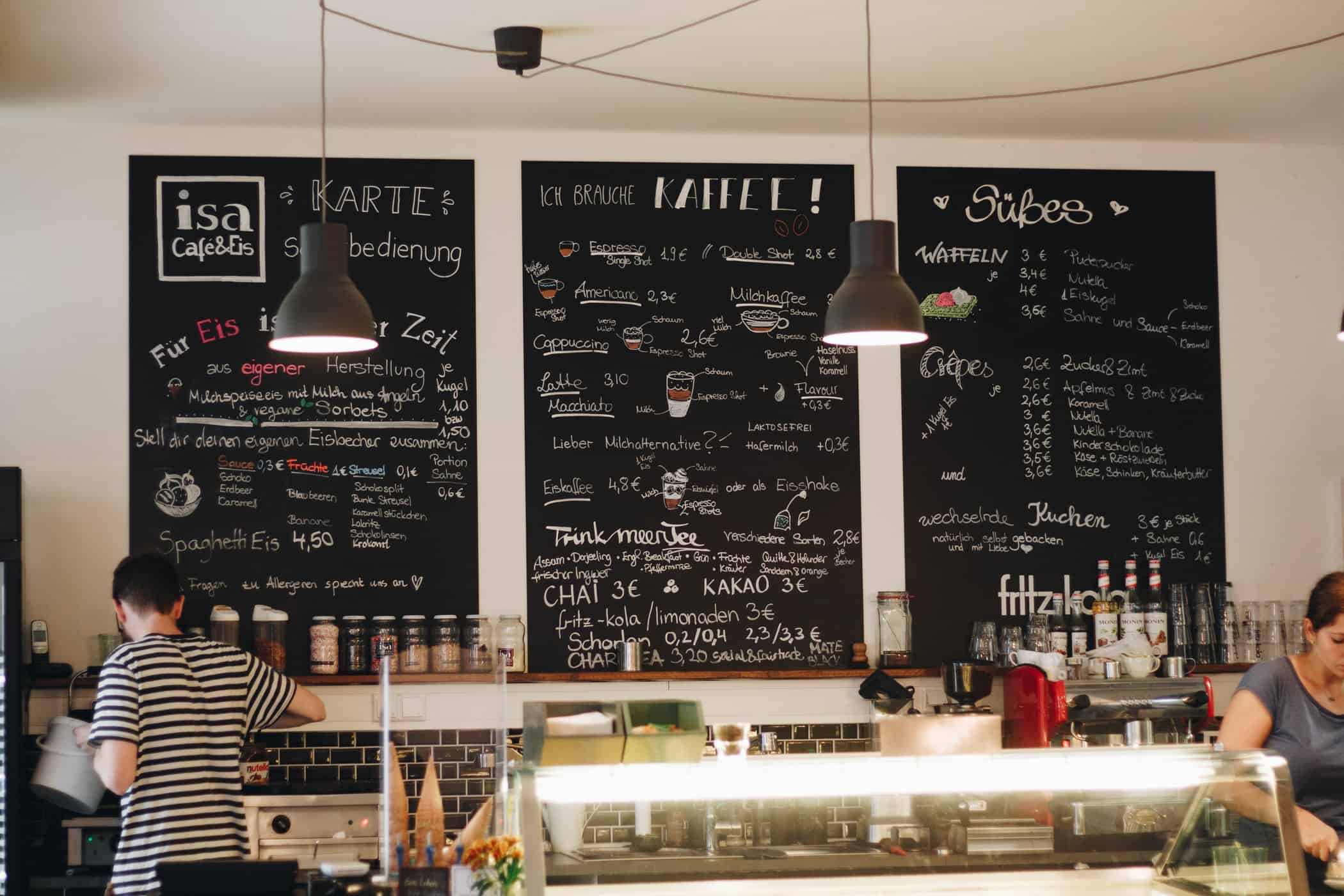 Café Isa InnenCafé Isa in Flensburg
