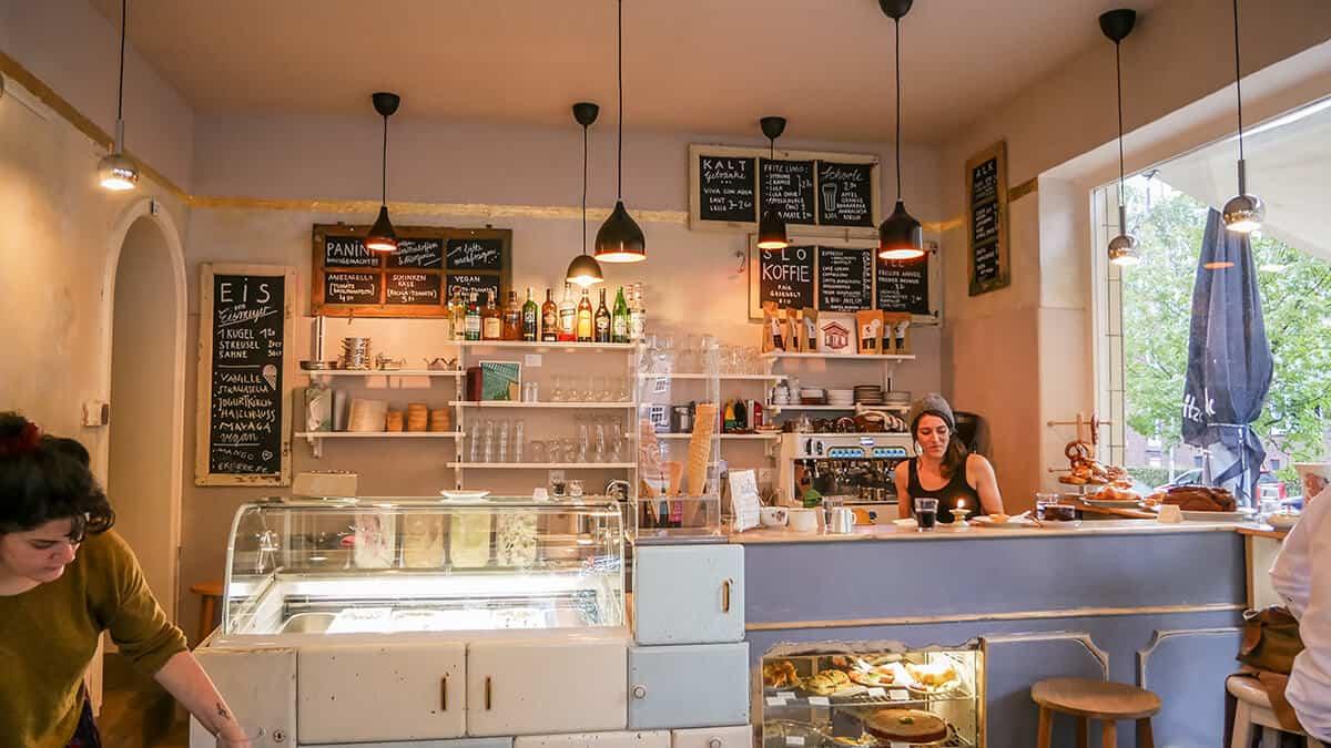 Neue Cafés in Kiel: Café Gold Innenansicht