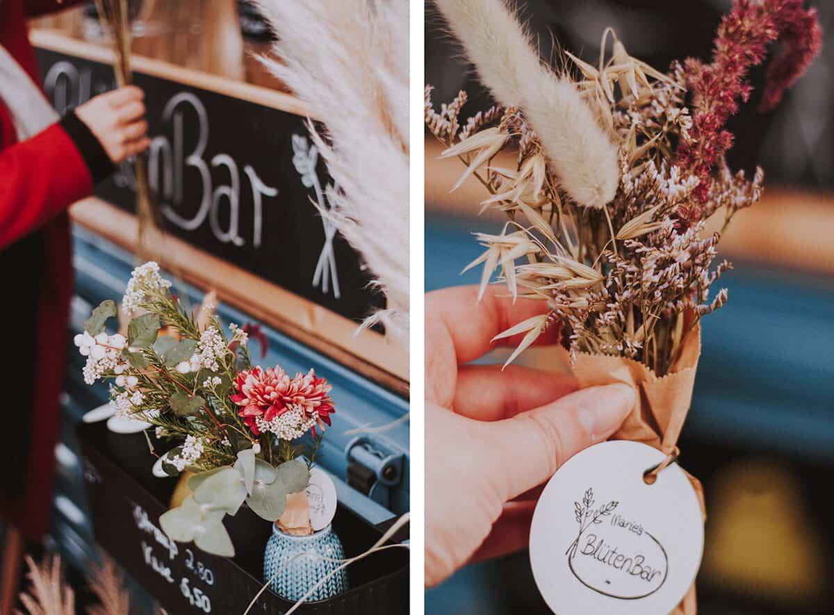BlütenBar und Blumenstrauß