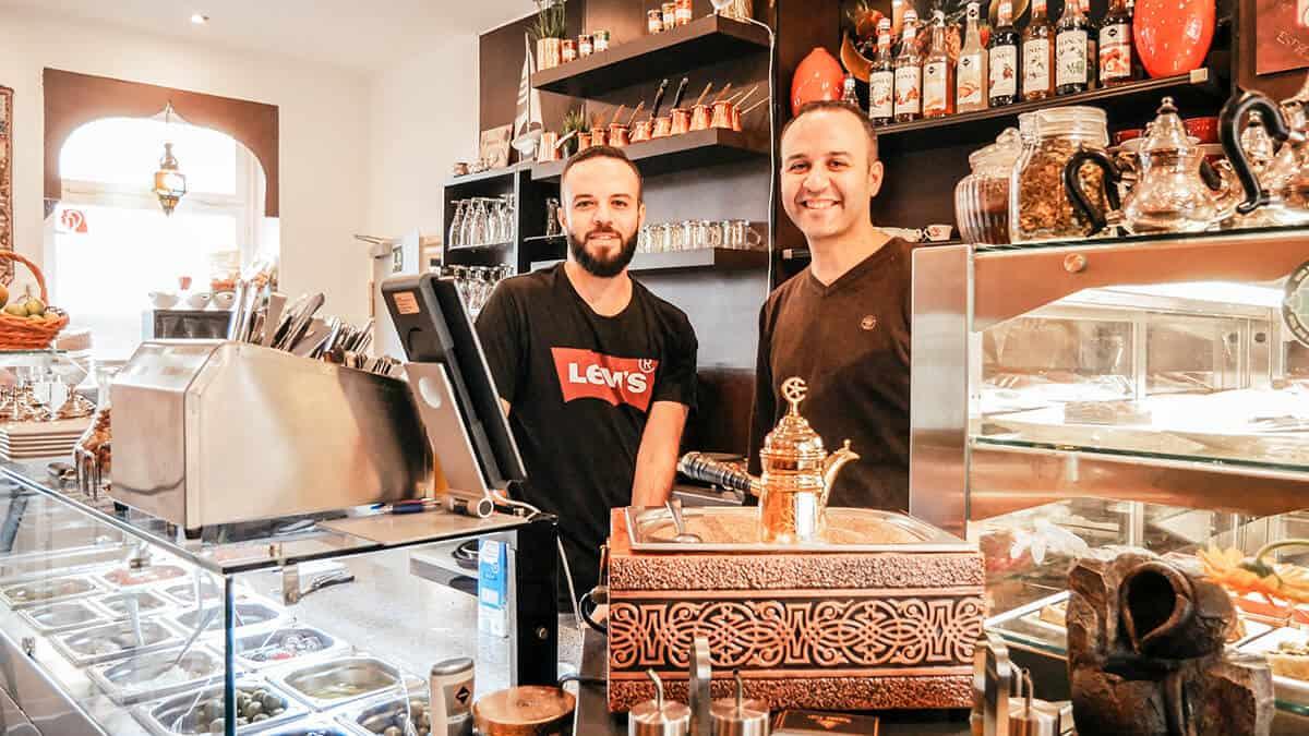 Besitzer Café Rosana: Abdul und Alan