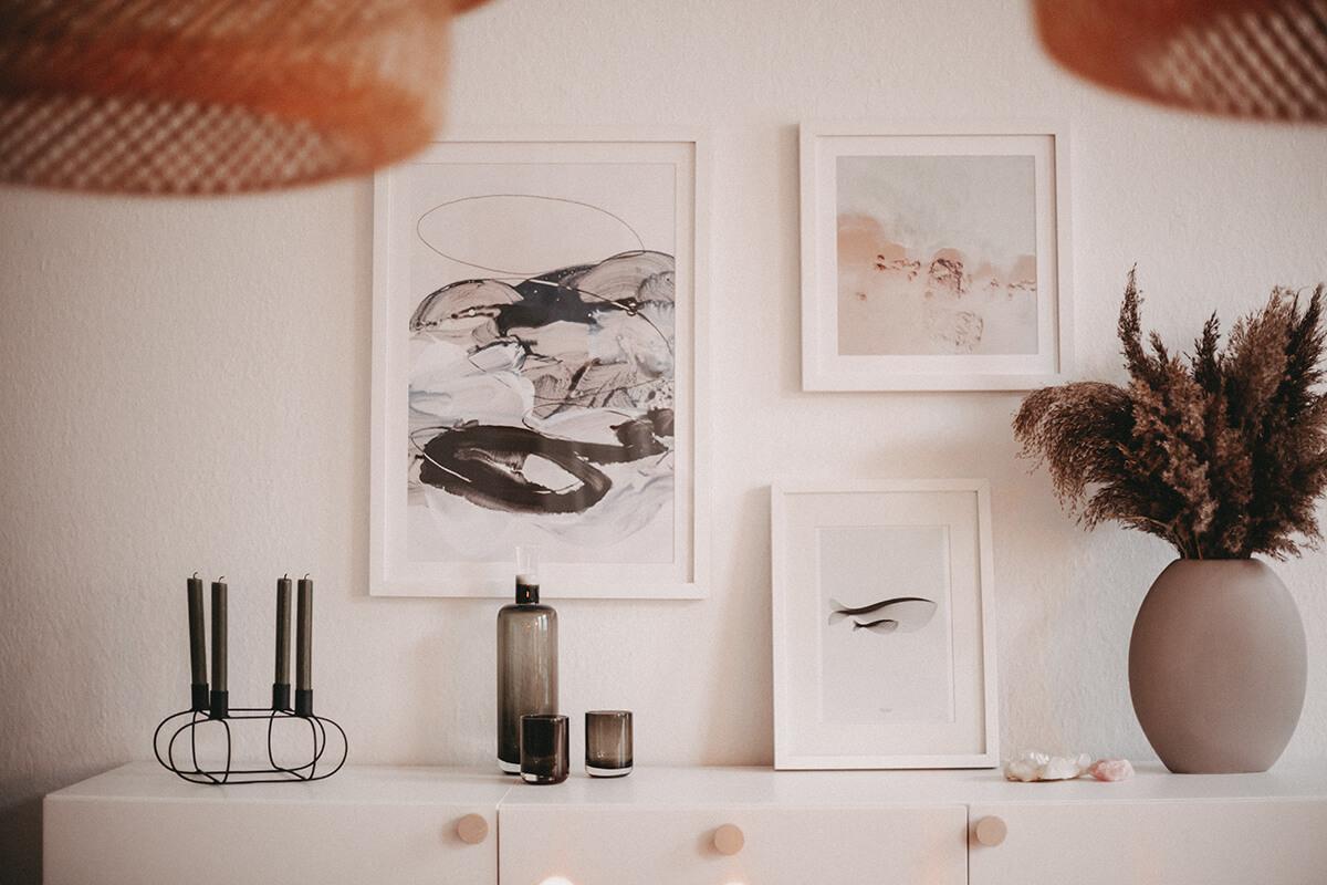 Prints im Esszimmer