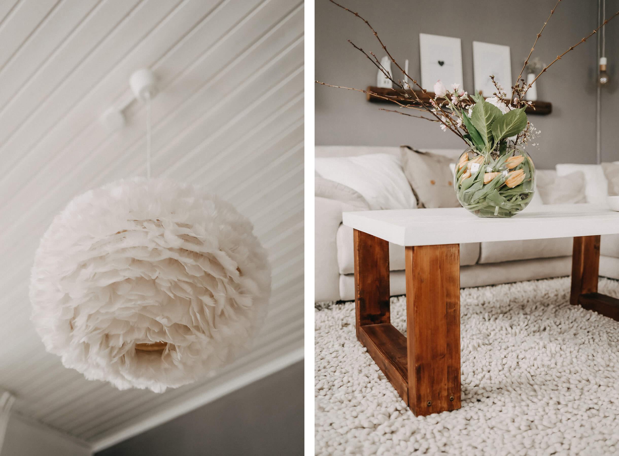 Wohnzimmer Collage Lampe/Tisch