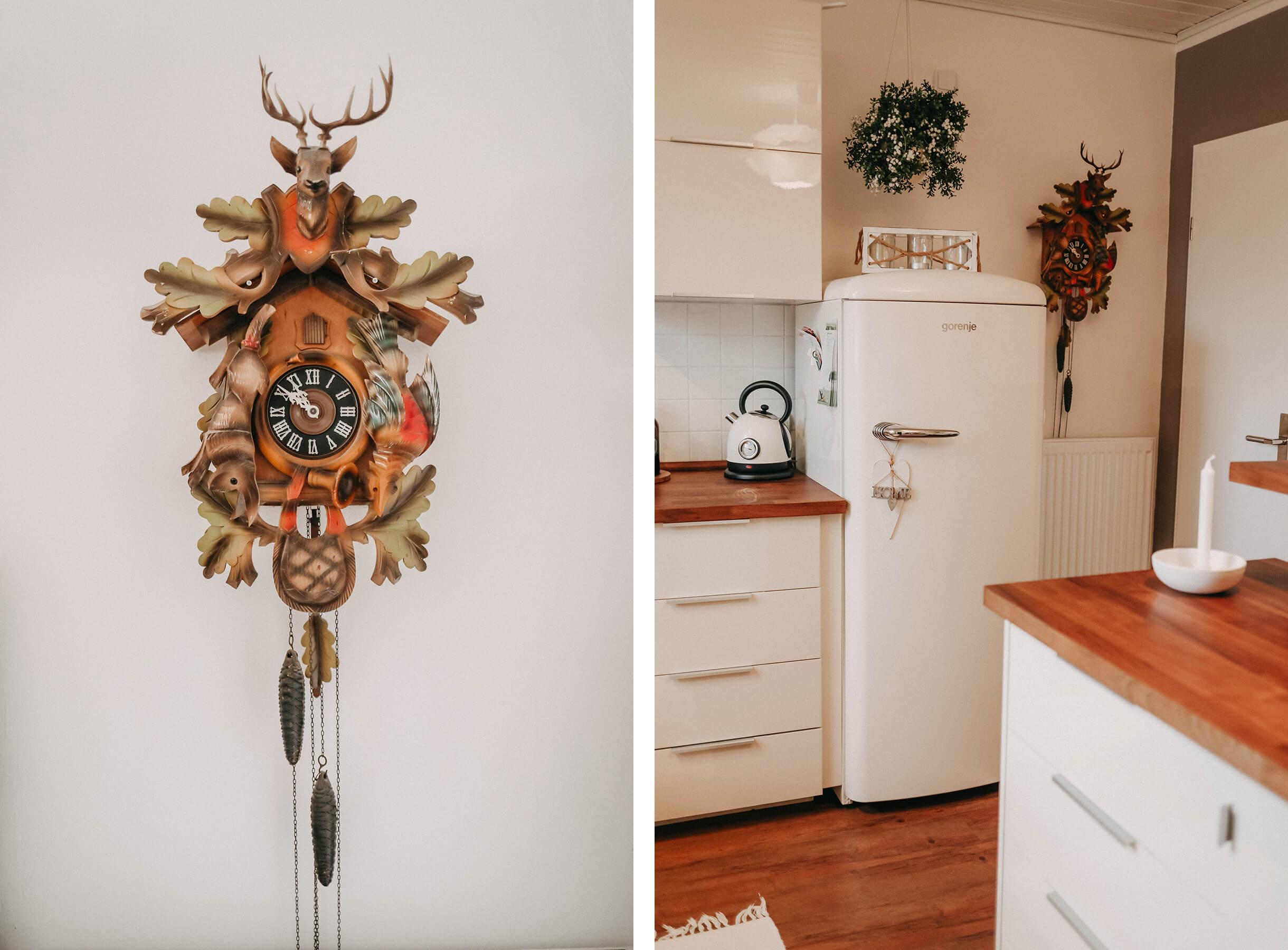 Kuckucksuhr Kühlschrank Küche Collage