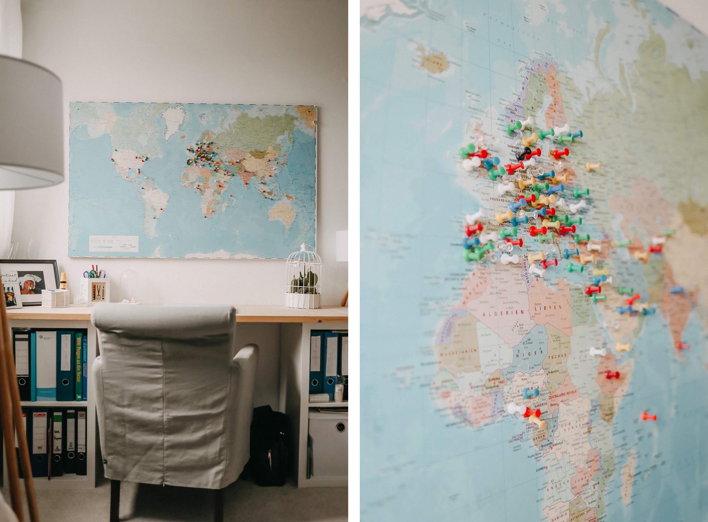 Landkarte Arbeitszimmer @_cozynessa_