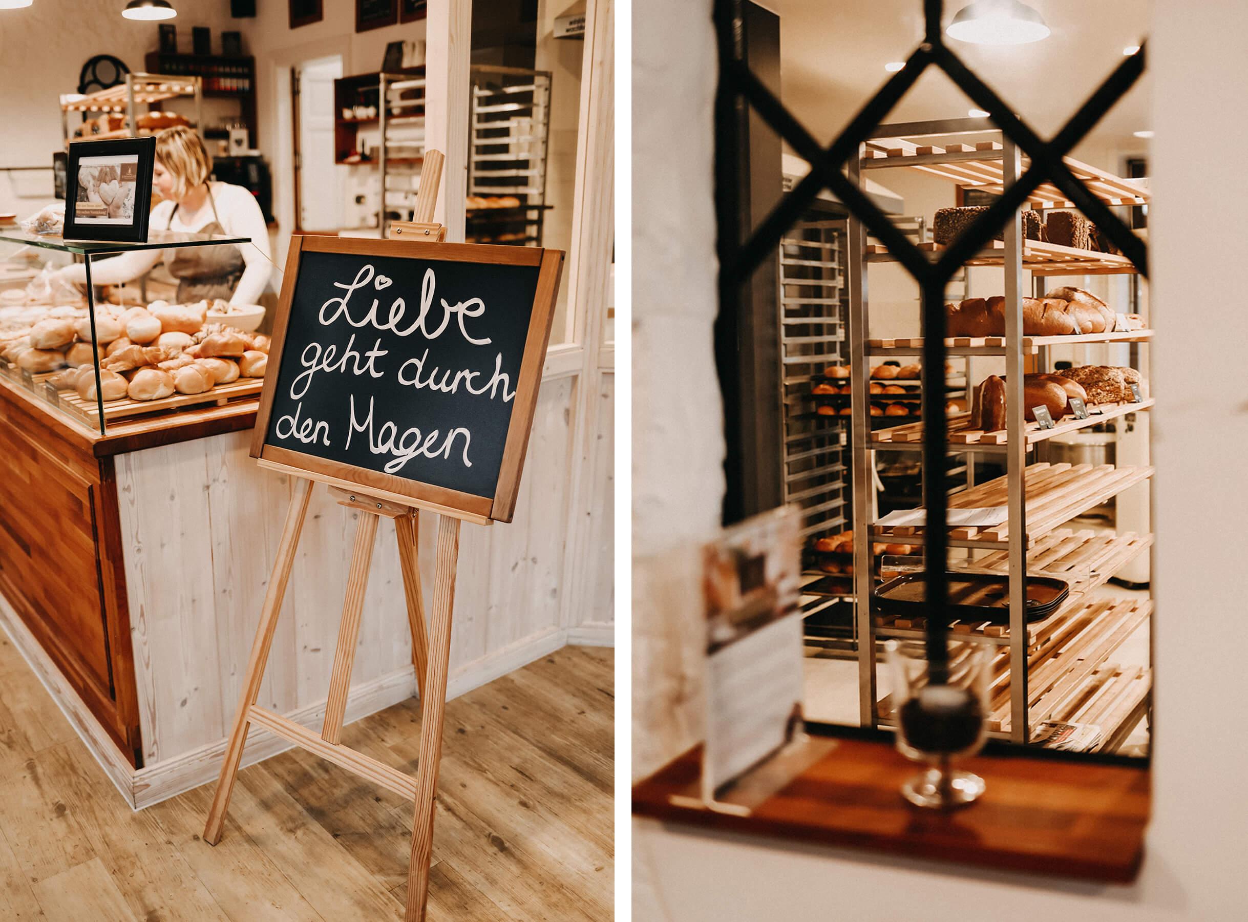 Bäckerei und Café Lieblingsplatz Husum Collage
