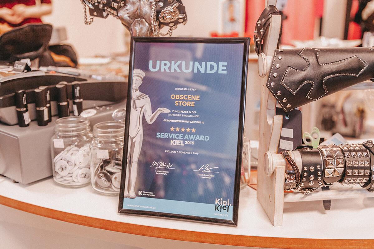 Service Award Urkunde