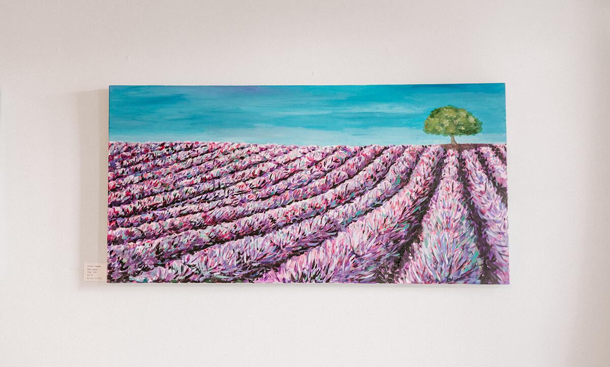 Gemälde Lavendelfelder