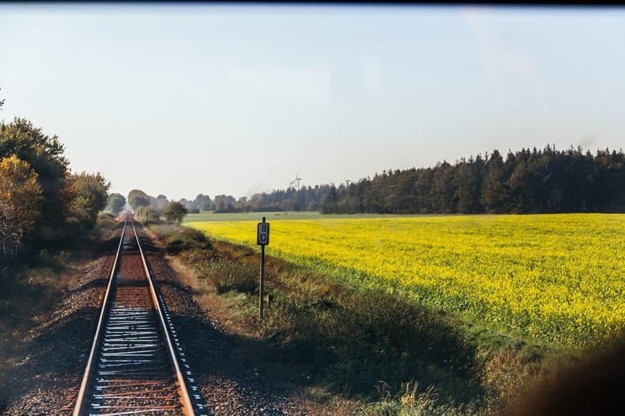 Wir freuen uns schon, dass wir bald wieder mit dem Zug durch die schöne Landschaft in Schleswig-Holstein fahren