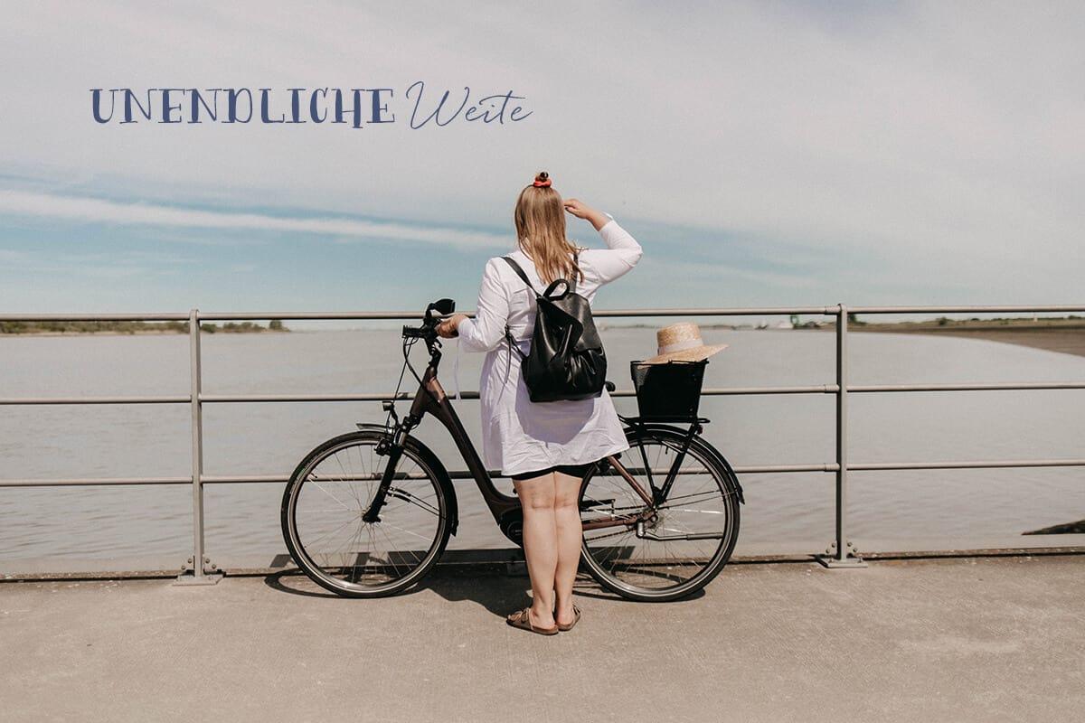 Fahrradtour am Hafenkopf von Glückstadt