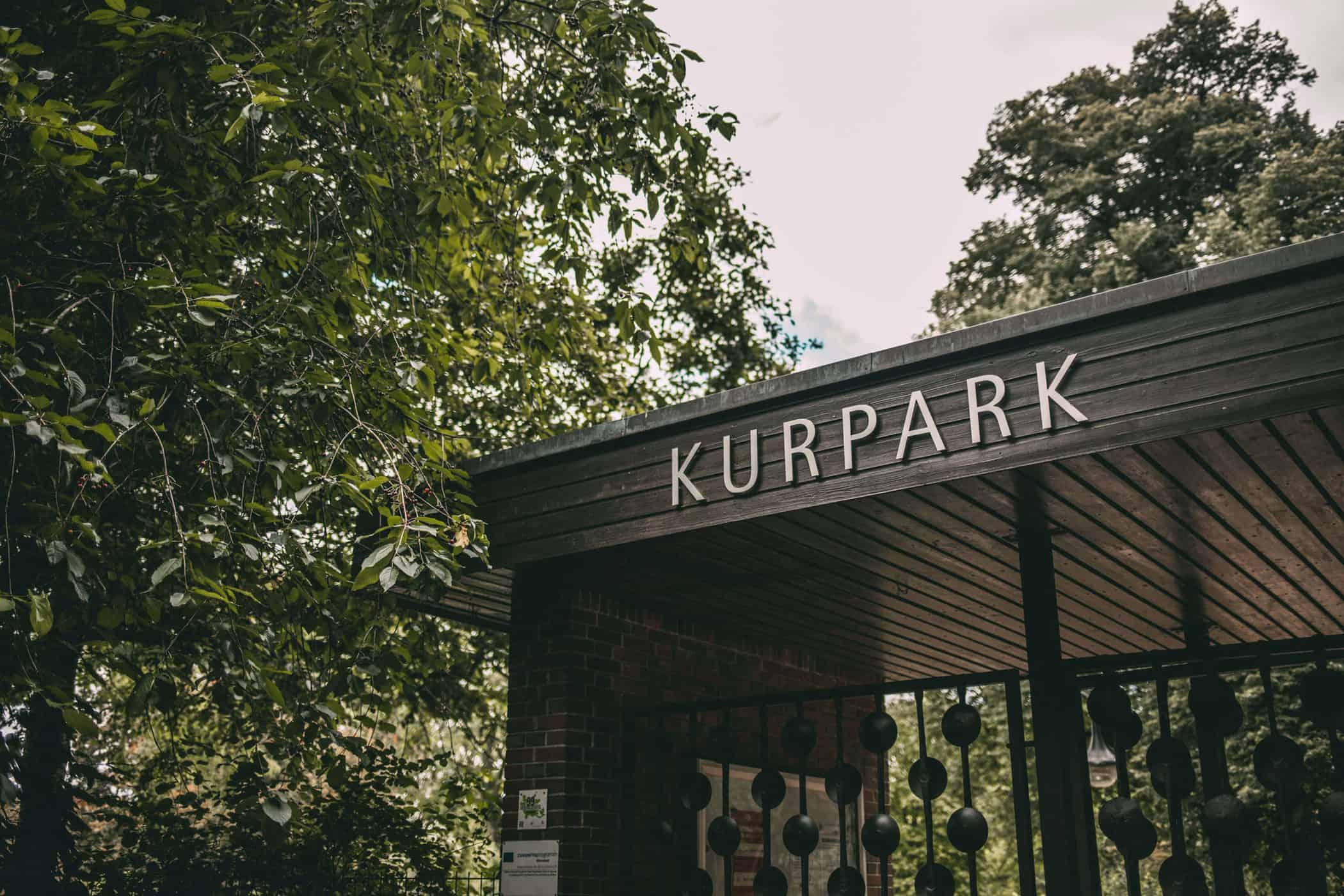 Eingang Kurpark