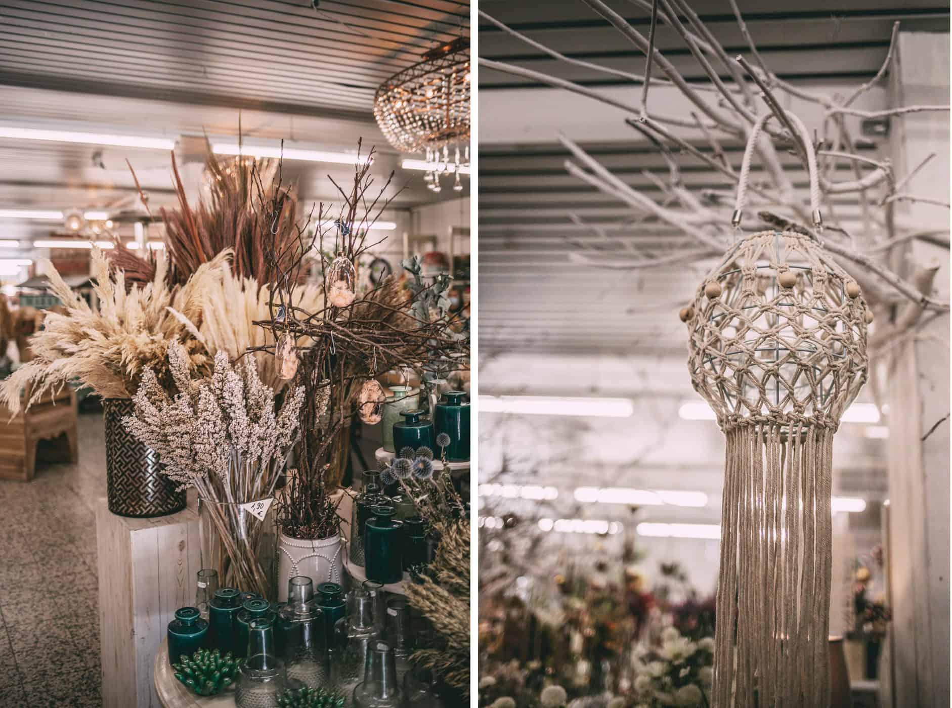 Schatzinsel Itzehoe: Trockenblumen und Makramee
