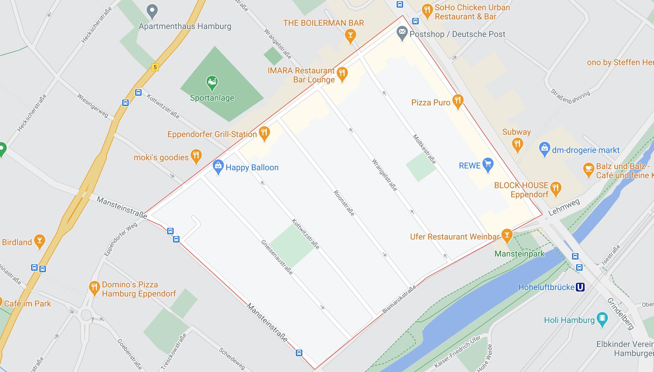Google Maps Generalsviertel