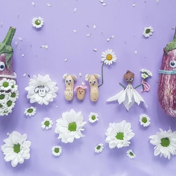 Smettikage: Bild mit Auberginen
