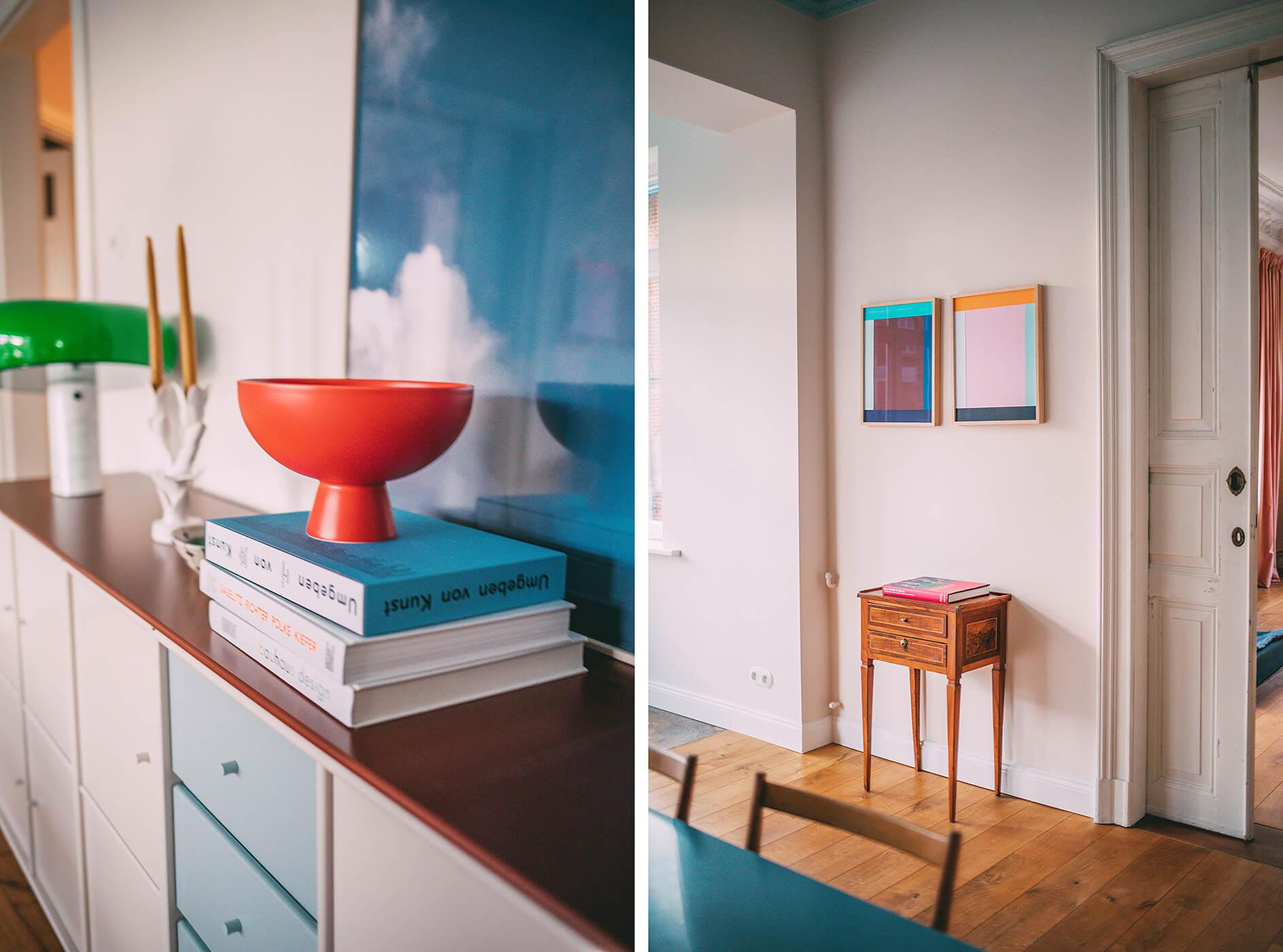 Dekoration und antike Möbel