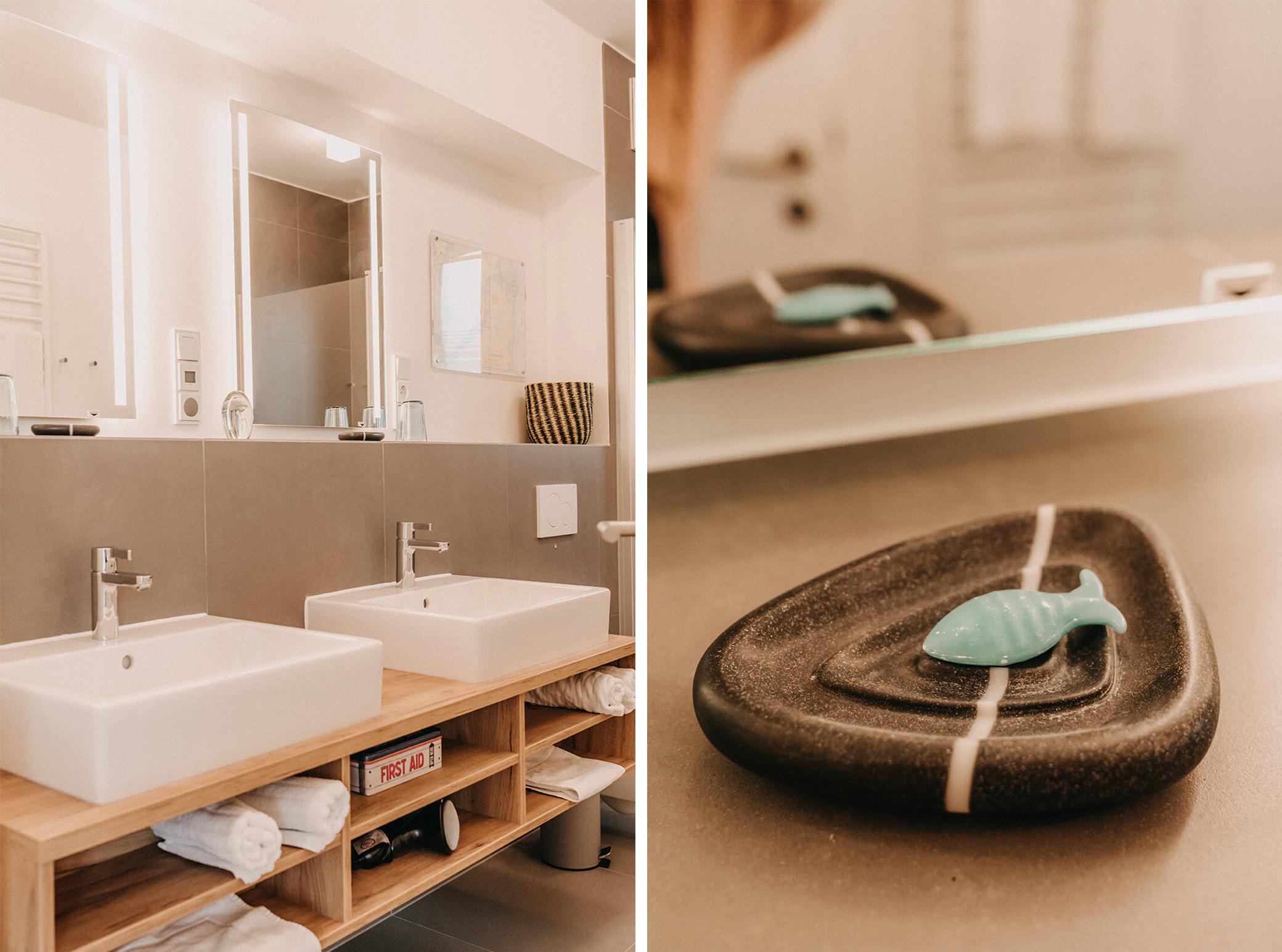 Badezimmerdetails Speicherquartier Kappeln