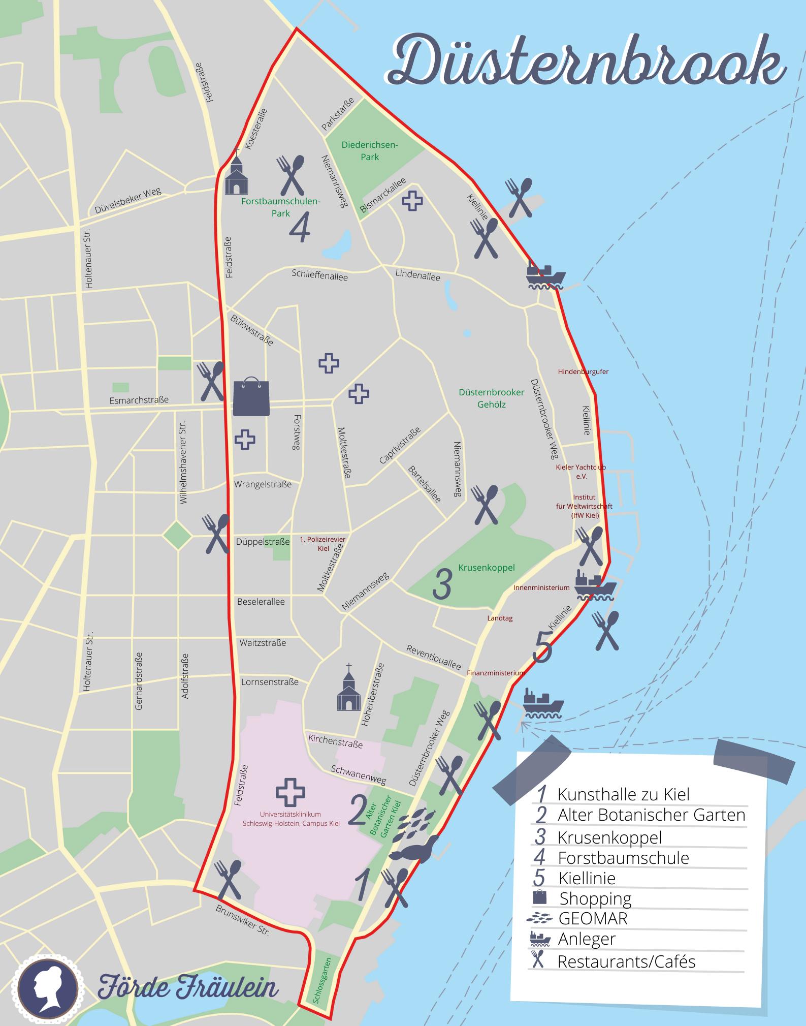 Karte Duesternbrook