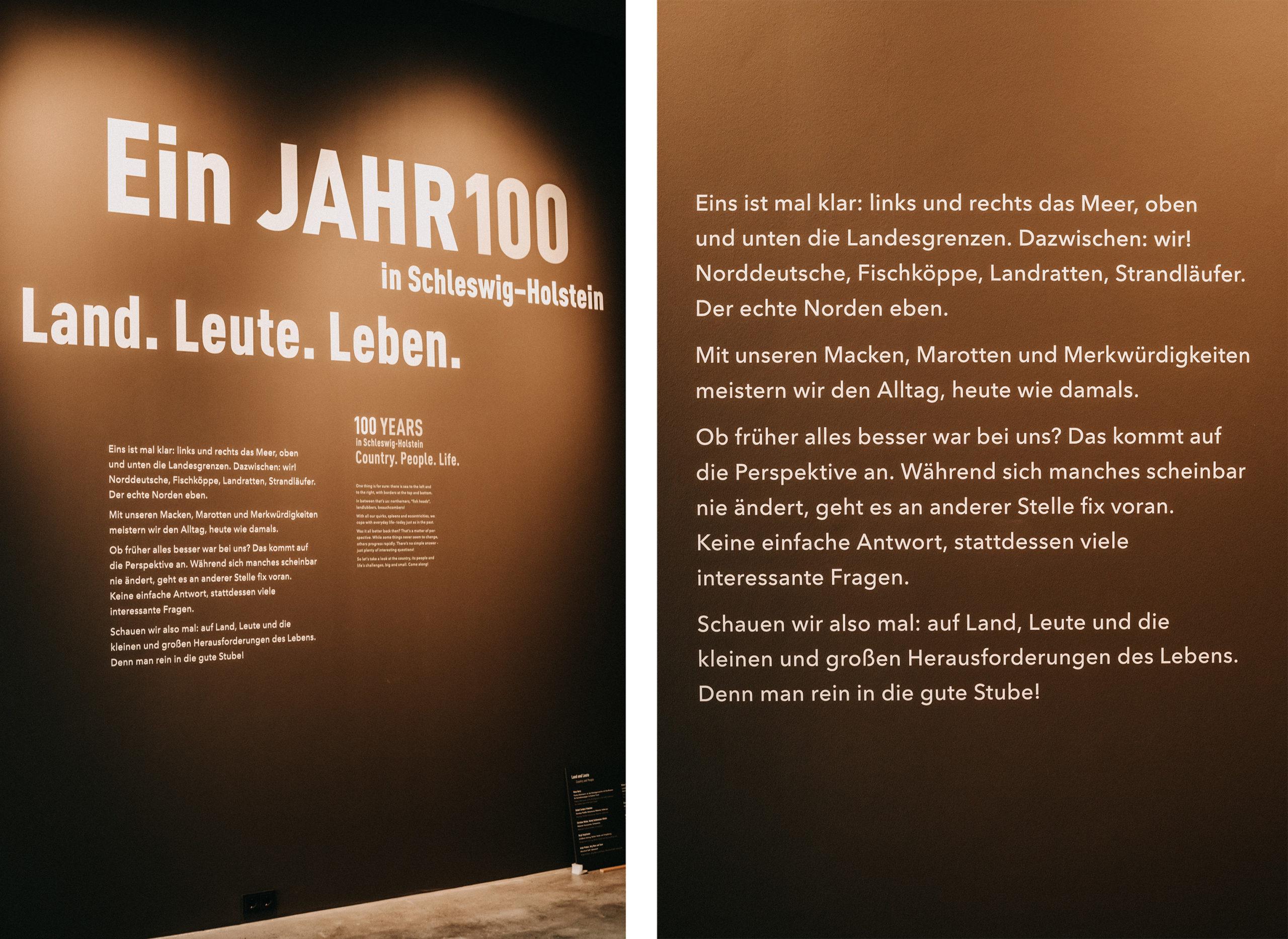 Jahr100Haus Molfsee: Wand Text Ein Jahr100