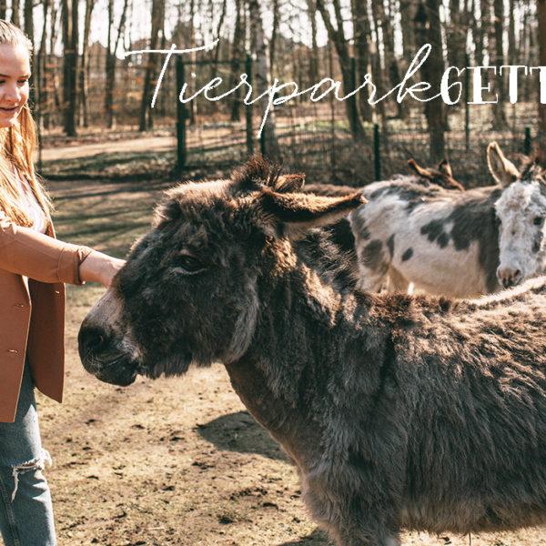 Sina streichelt Esel