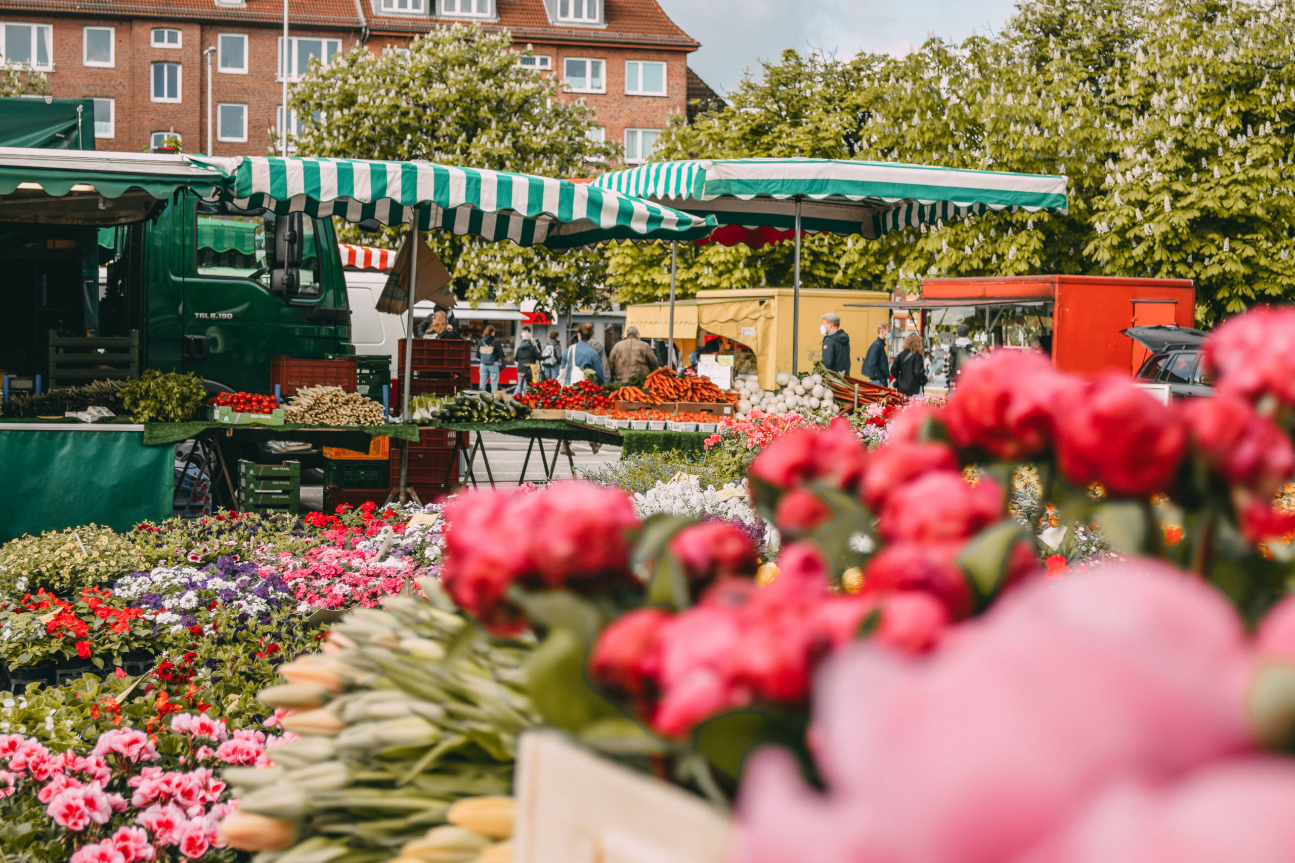 Markt Blumenstand