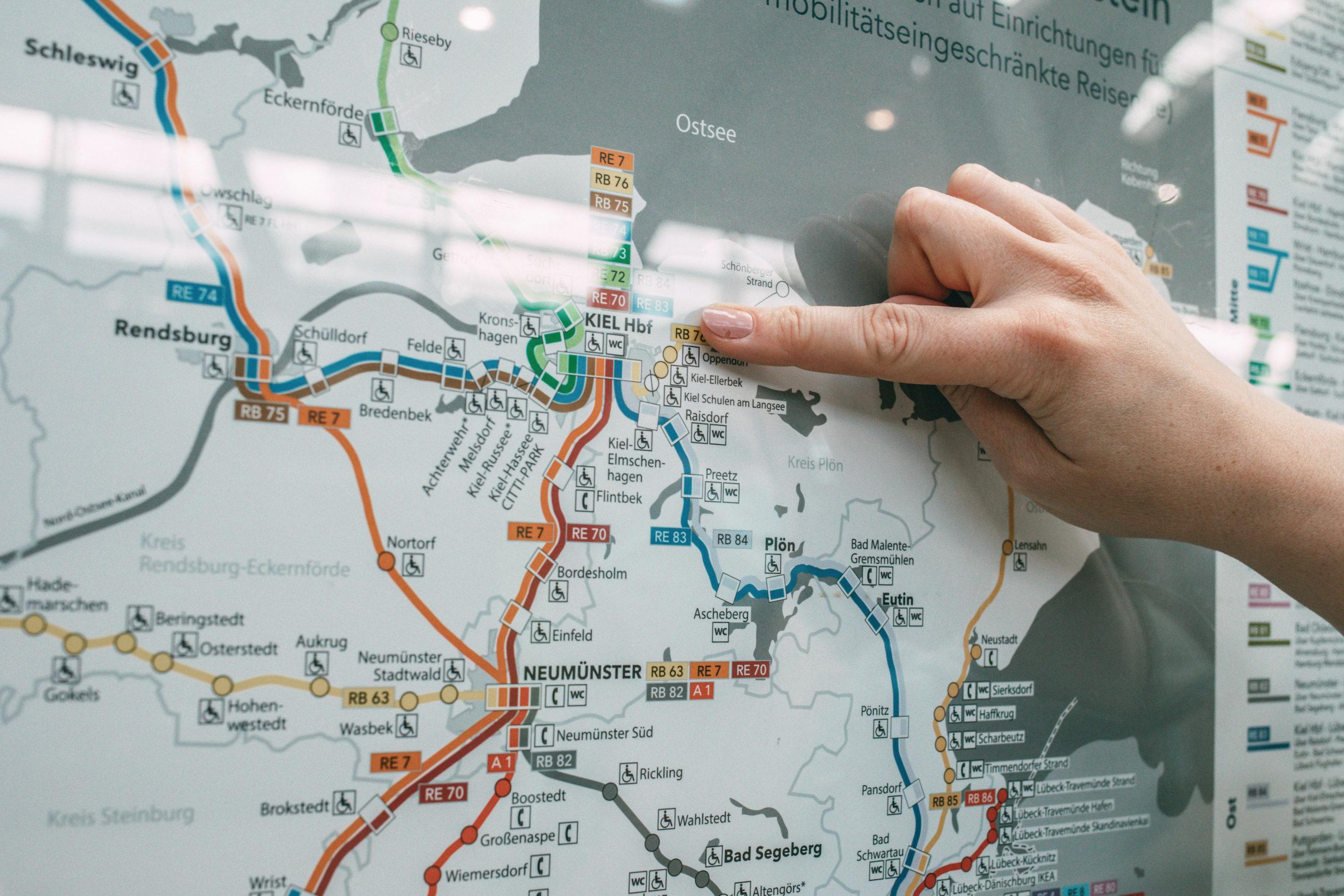 Karte DB Netz