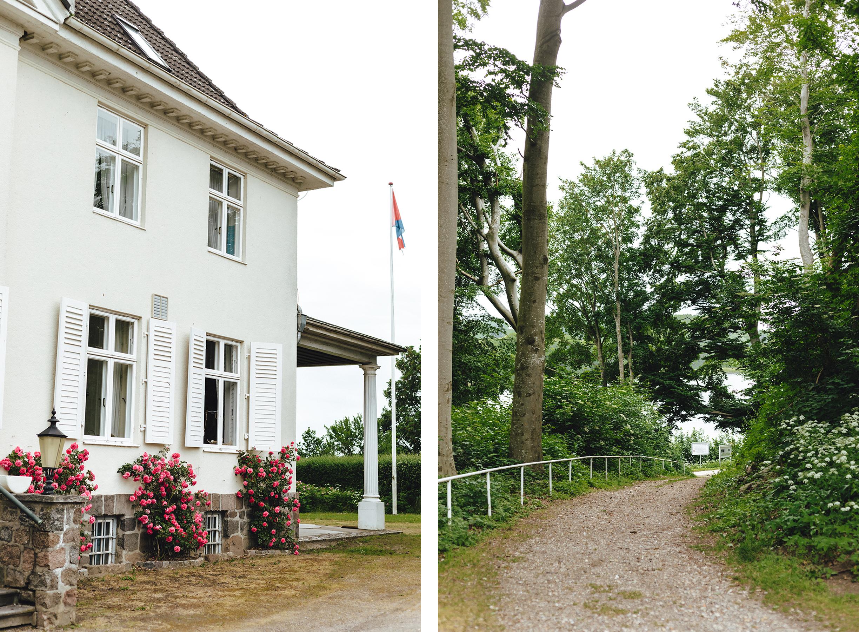 Erdbeer- und Himbeerhof Gut Steinwehr: Herrenhaus, Weg zum NOK