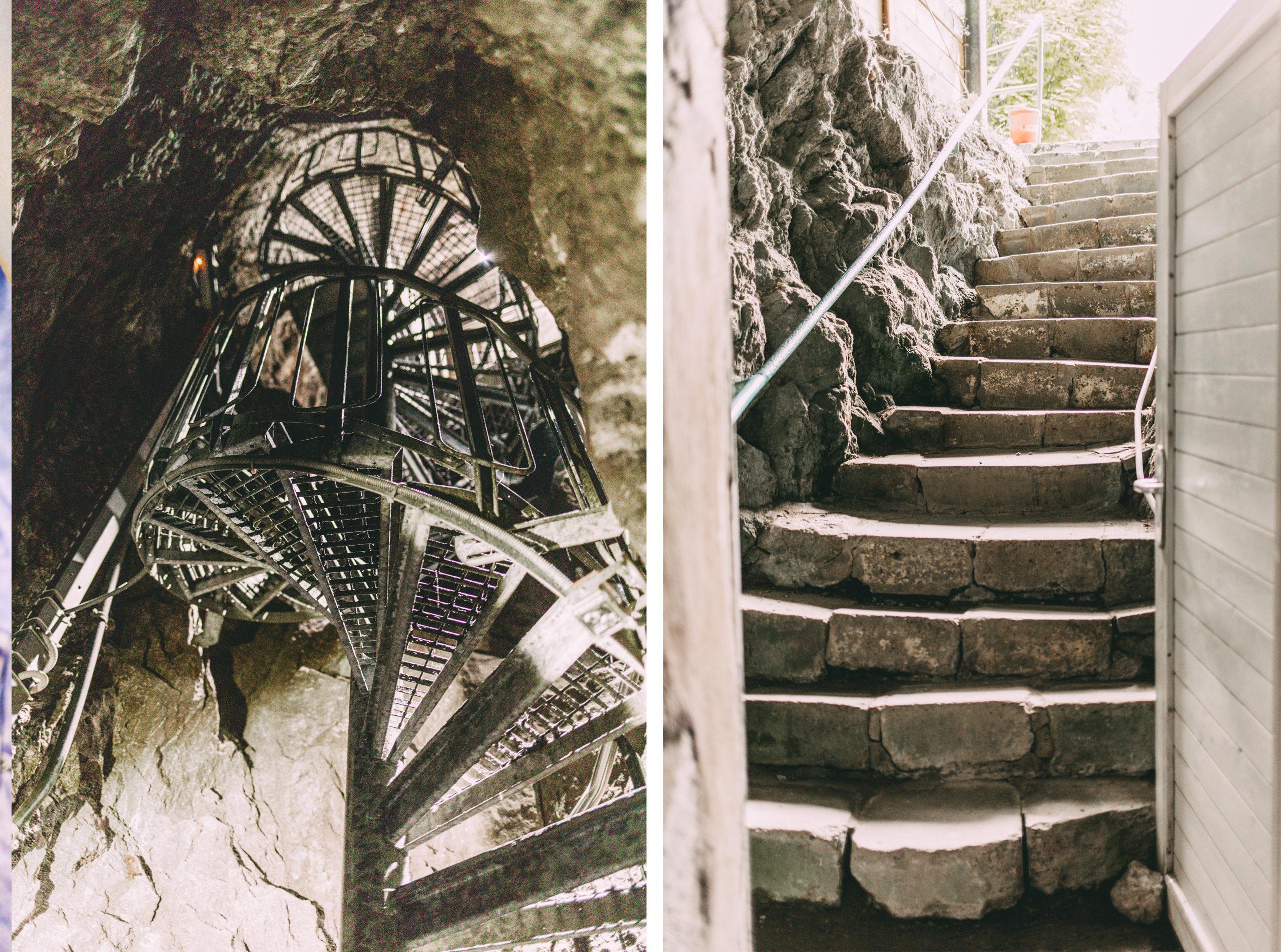 Wendeltreppe und Treppenaufgang Kalkberg