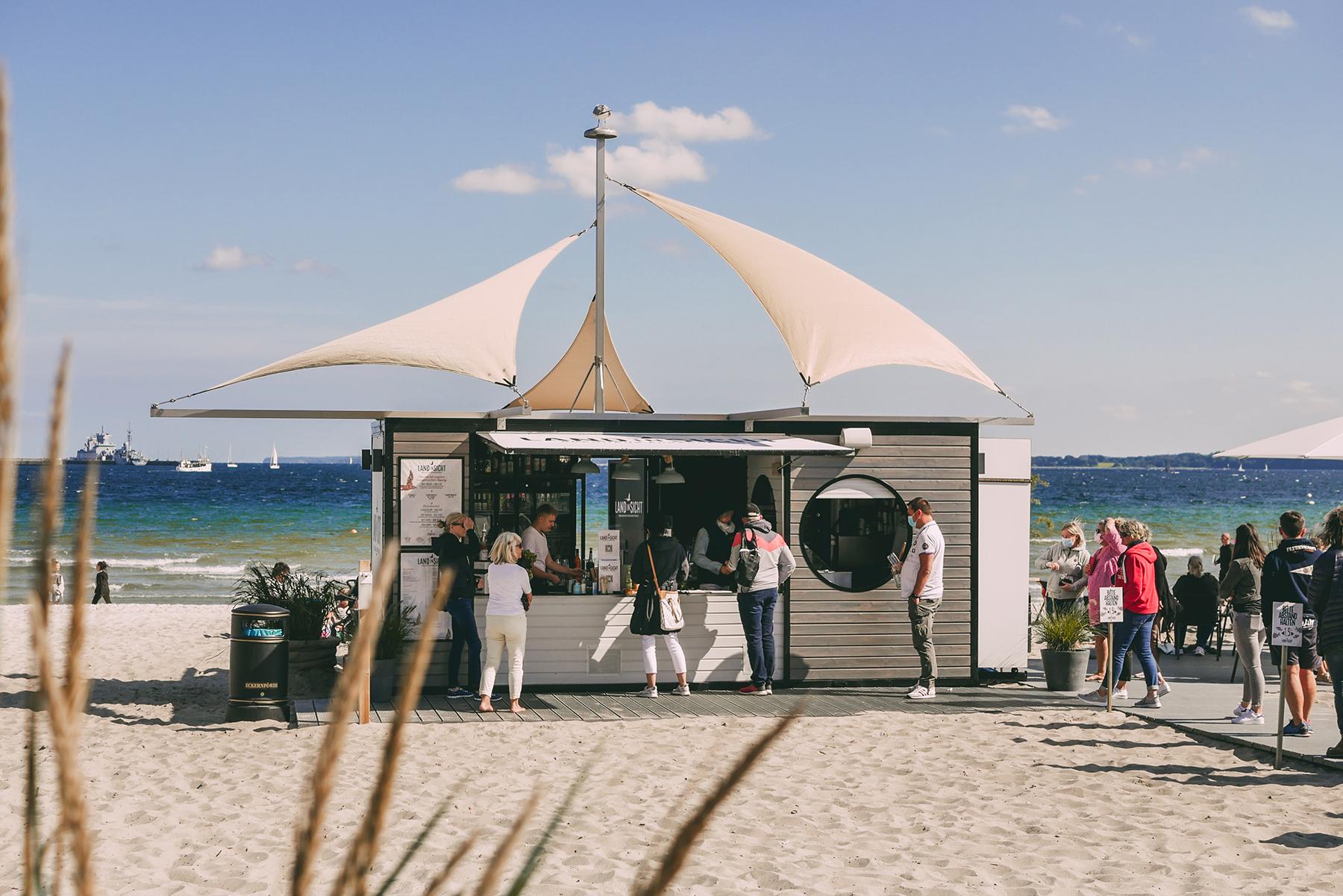 Strandbar Land in Sicht Eckernförde Tipps