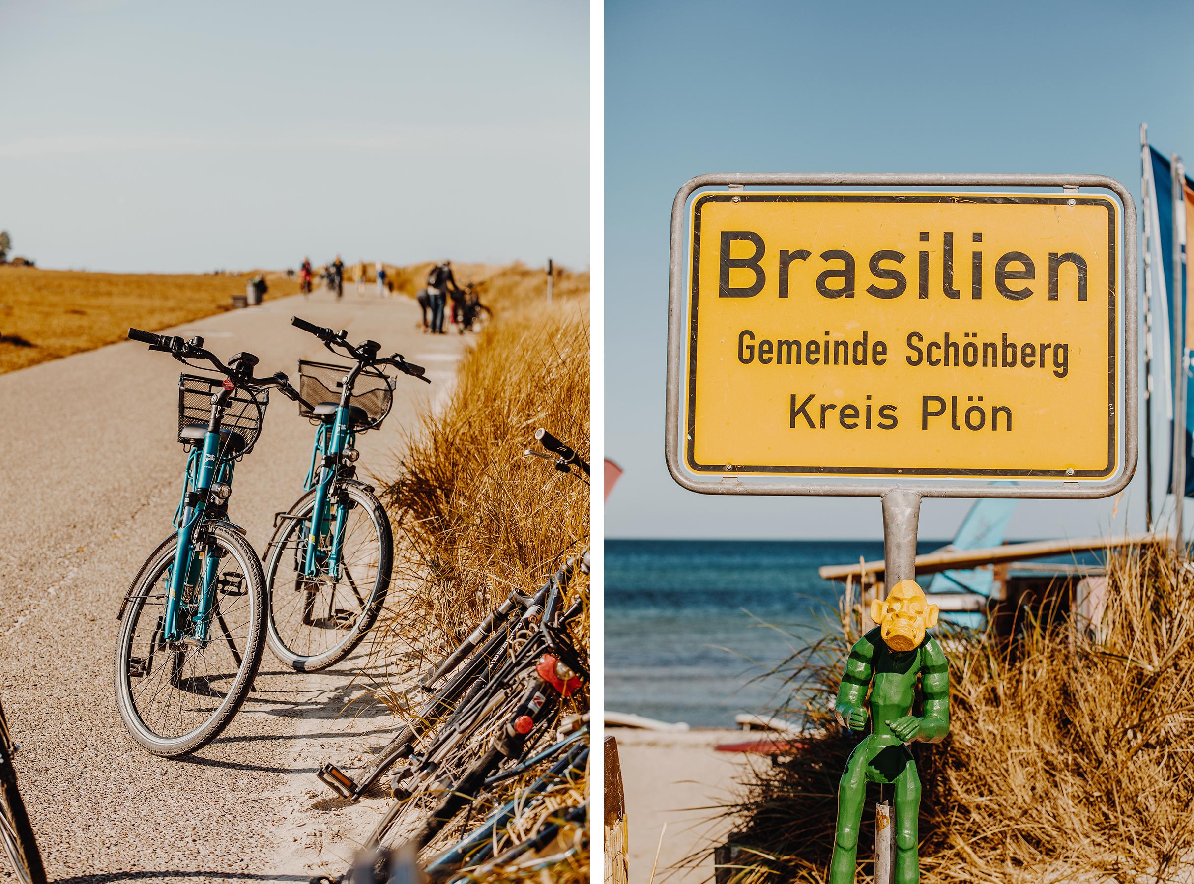Auf dem Ostseeküsten-Radweg von Laboe nach Hohwacht: Brasilien