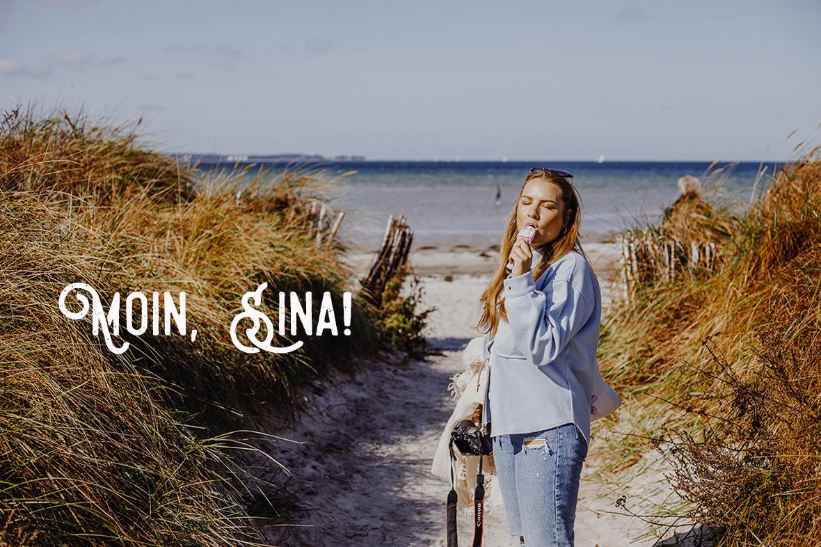 Auf dem Ostseeküsten-Radweg von Laboe nach Hohwacht: Strand von Stein